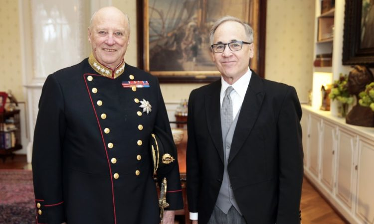 Ambassador Heins and King Harald