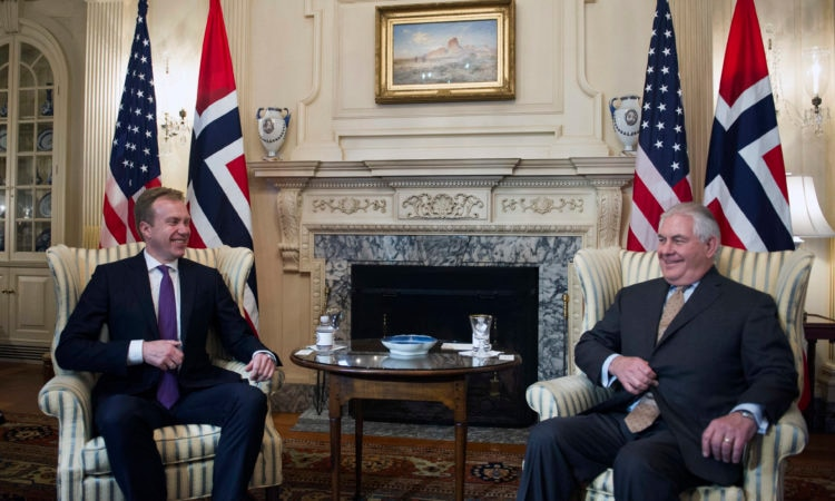 Secretary of State Rex Tillerson meets with Norwegian Foreign Minister Børge Brende
